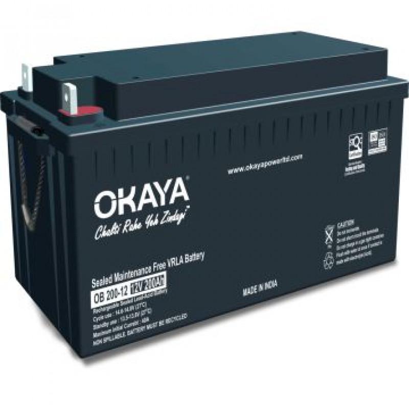 OKAYA OB 200-12 (200 AH) SMF/VRLA BATTERY